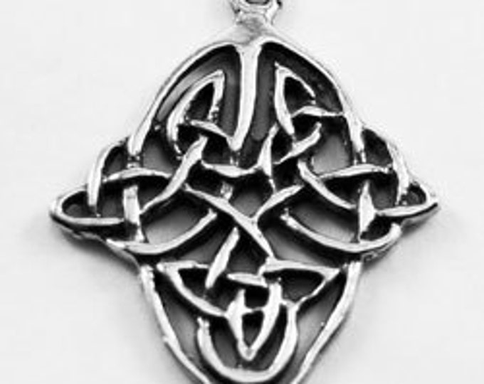 2 x Celtic  Knot Open pendant or charm  1 bail Australian Pewter (R369)