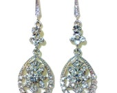 Crystal Bridal Earrings, Gatsby Wedding Earrings, Swarovski Crystal, Art Deco Wedding Jewelry, DECORES