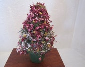 dollhouse miniature Christmas tree small for table