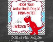 Boy Dinosaur Favor Tags - DIY - Digital FIle - Valentine's Day Tag