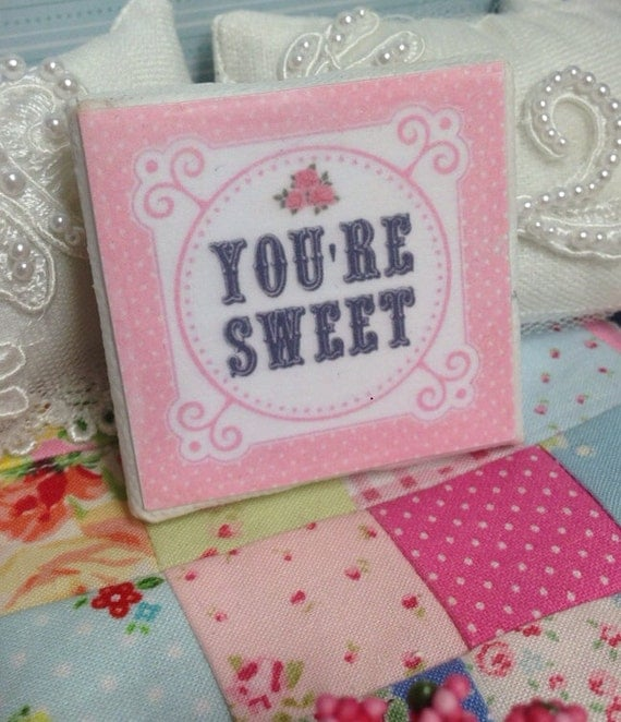 Valentine You're Sweet picture Canvas- miniature