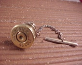Bullet Tie Tack  Winchester 45 Colt Shell Recycled Repurposed