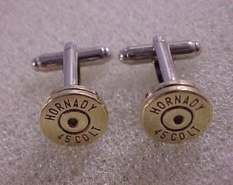 Bullet Cufflinks / Hornady 45 Colt Cuff Links / Wedding Cufflinks / Bullet Cuff Links / 45 Colt Cufflinks / Groomsmen Gift / Gifts For Men