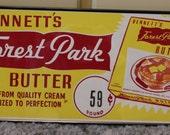 VINTAGE  Bennett's Forest Park Butter Framed NOS Ottawa Kansas