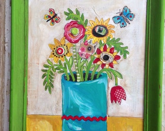New Lower Price Floral Folk Art