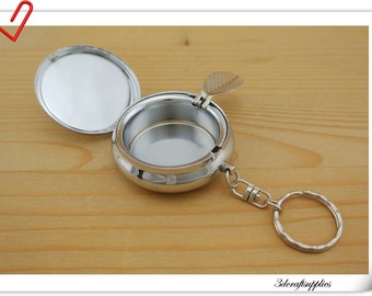 5cm ( 2 inch )  Blank Pocket ashtray key chain portable ashtray AC55