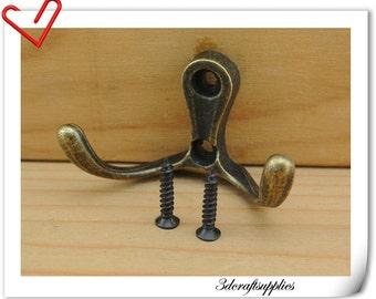 5.3cm x 1.1cm x 1.3cm Clothing hook clothing hanger clotches hook wall hook wall hanger 5 piece AC87