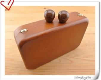 wood box purse frame 18cm x 11 cm (7  inch x 4 1/4  inch ) M82