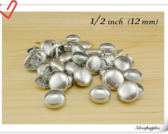 100 sets of  cover button 1/2 inch (12mm)  Size 20 Self cover buttons Wire back Cover buttons wholesale