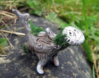 Wood Whelp 'Mask' - Minature Dragon Figure - Fantasy Wood Creatures