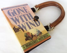 Gone With The Wind Recycled Book Purse - Scarlett O Hara Book Clutch - Southern Belle Book Bag