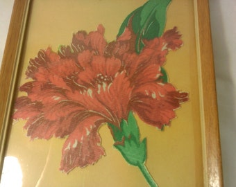 FREE SHIPPING vintage flower picture (Vault 24)