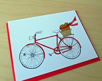 Chocolate Bike - Valentine - Love Card