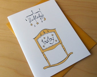 Lullaby Cradle Baby Card