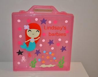 Barbie travel/storage case personalized