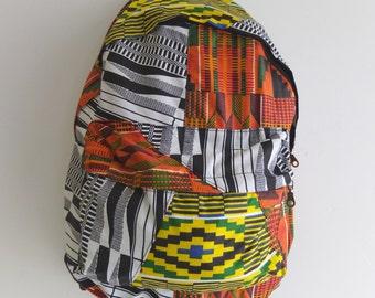 SALE 2 LEFT Kente Quilt Back Pack