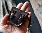 2 MiniBooks in a little Briefcase Dark Brown leather.