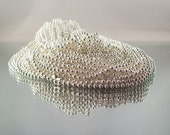 Silver Plated Ball Chain Necklace 24 inch 2.4mm - Easy to cut to shorten.