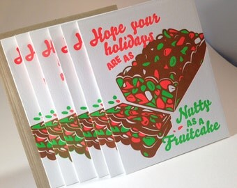 6 pack Nutty as a Fruitcake Holiday Card