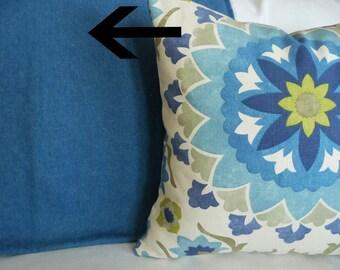 Light Blue  Pillow Covers, Solid Blue Decorative Throw Pillow, Blue Cushion Covers for Coastal Decor, 18x18, 20x20, 22x22, 26x26