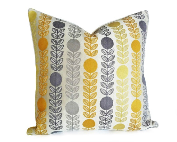 The Modern Pillow : Mid Century Modern Pillows Danish Pillow Covers Cream Yellow