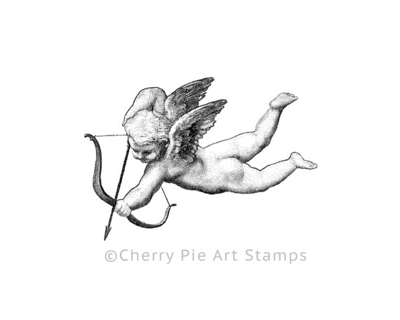 raffaello 39 s cherub cupid angel cling stamp for acrylic. Black Bedroom Furniture Sets. Home Design Ideas