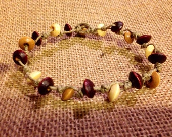 Natural hemp men's bracelet