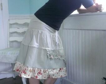 Linen Skirt Boho Prairie Size 2 to 4