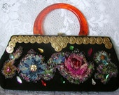 Gorgeous Vintage Beaded and Needlepoint, Small,  Convertible Clutch, Handbag, On HOLD for L