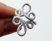 Textured Loop De Loop Ring