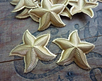 Vintage Brass 35mm Starfish Stampings (2)