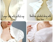 A little Wedding Day Chill Chaser ~ Beautiful bolero ~ capelet ~ wrap or shrug in satin / silk / cotton or faux fur