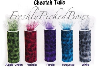Cheetah Tulle 6 x 10 yards  5 colors to choose from