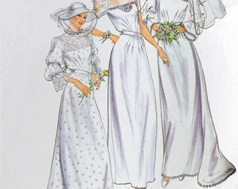 Wedding Dress Sewing Pattern, Butterick 3699 Parsons School of Design, Bride Dress, High Neck, Size 10, Bust 32.5 inches, UNCUT