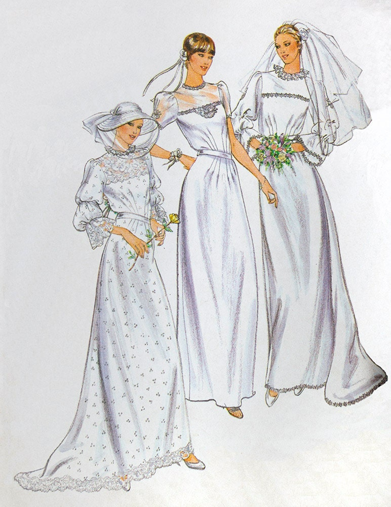 Wedding dress sewing pattern butterick 3699 parsons for Butterick wedding dress patterns