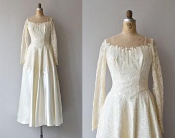 Trillium wedding gown | vintage 1950s wedding dress • lace 50s wedding gown