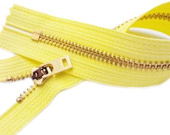 105- 10 inch Jeans zipper YKK #5 Brass And 105 - white #4.5, 7 inch pants ykk brass closed bottom