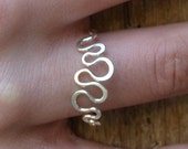 Silver ring  Sterling Silver ring  simple silver ring snakey ring, hand forged eco friendly Design jewelry