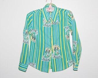Vintage Girls Blouse 70s Petticoats & Pontaloons