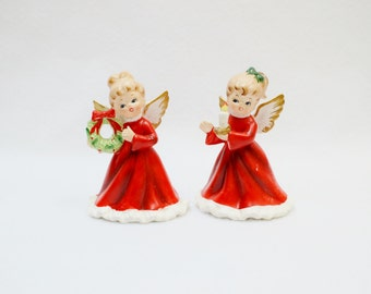 Napcoware Christmas Angels Wreath- Candle Vintage Retro Christmas Decor-Christmas Gifts-Vintage Finds-Winter Trends