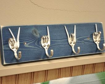 personalized Fork Key rack  Peace x Love x Rock On x Fork U