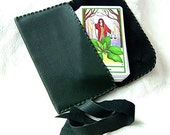 Green Leather Tarot Bag...Smooth