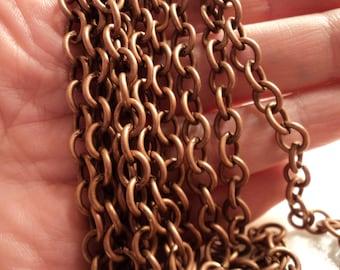 BULK - Heavy Antique Copper Chain - 15 feet - #CH06782
