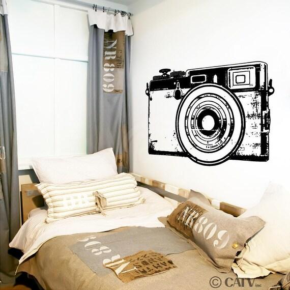 retro camera customizable wall decal