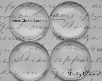 25 30mm - 1.25 Inch Domed Glass Circle Cabochons for Pendants or DIY Crafts