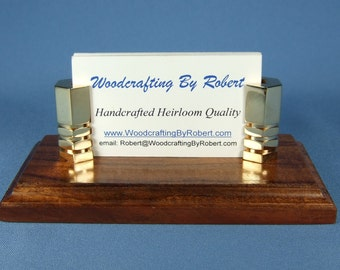 Handcrafted Business Card Holder