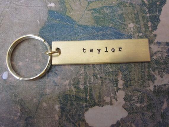 The Jessie Key Chain - Custom Metal Hand Stamped  Key Chain