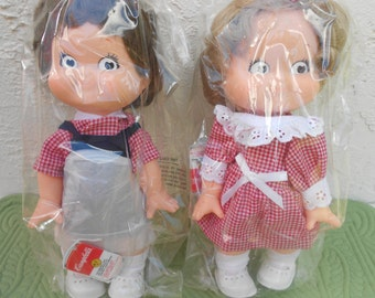 1988 Collectible Campbell's Boy and Girl Kid Dolls