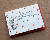 Happy Birthday - Clown - 4bar card and envelope