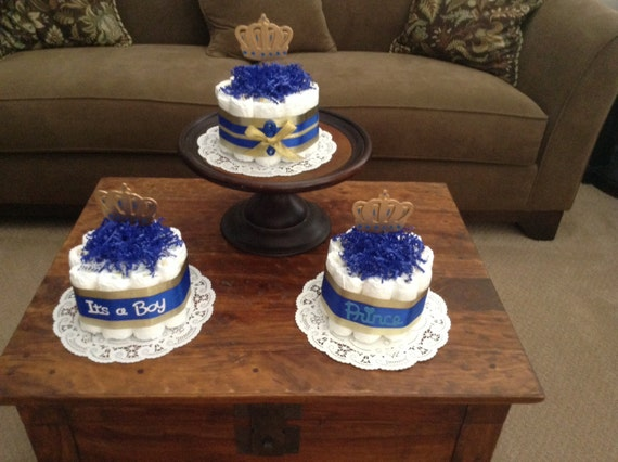 little prince royal baby shower diaper cakes centerpieces other colors
